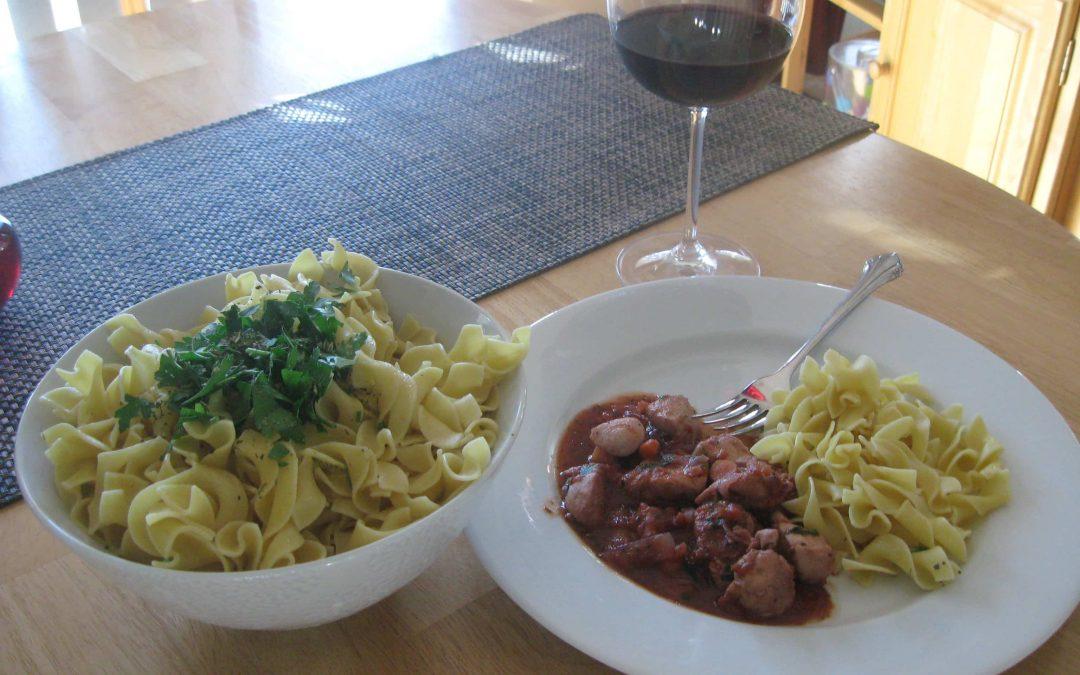 Italian Chicken in Red Wine