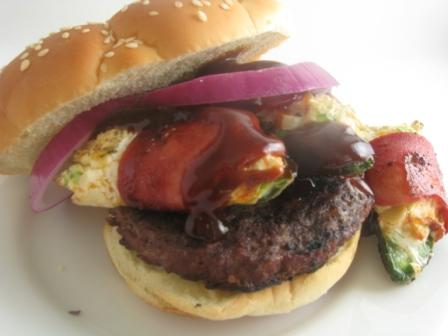 Stuffed Jalepeno Topped Burgers