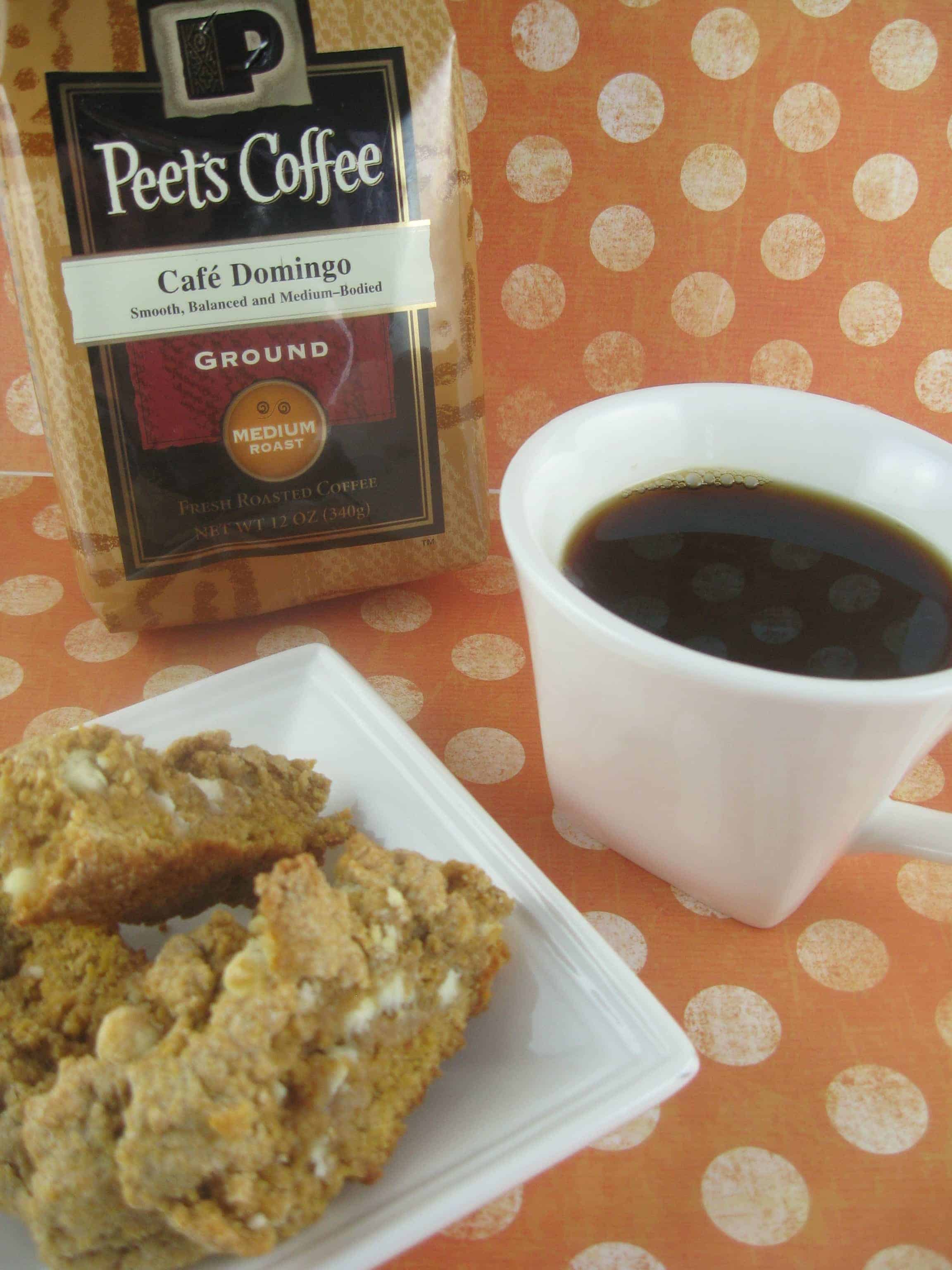 Pumpkin Pie Biscotti and Peet's Coffee