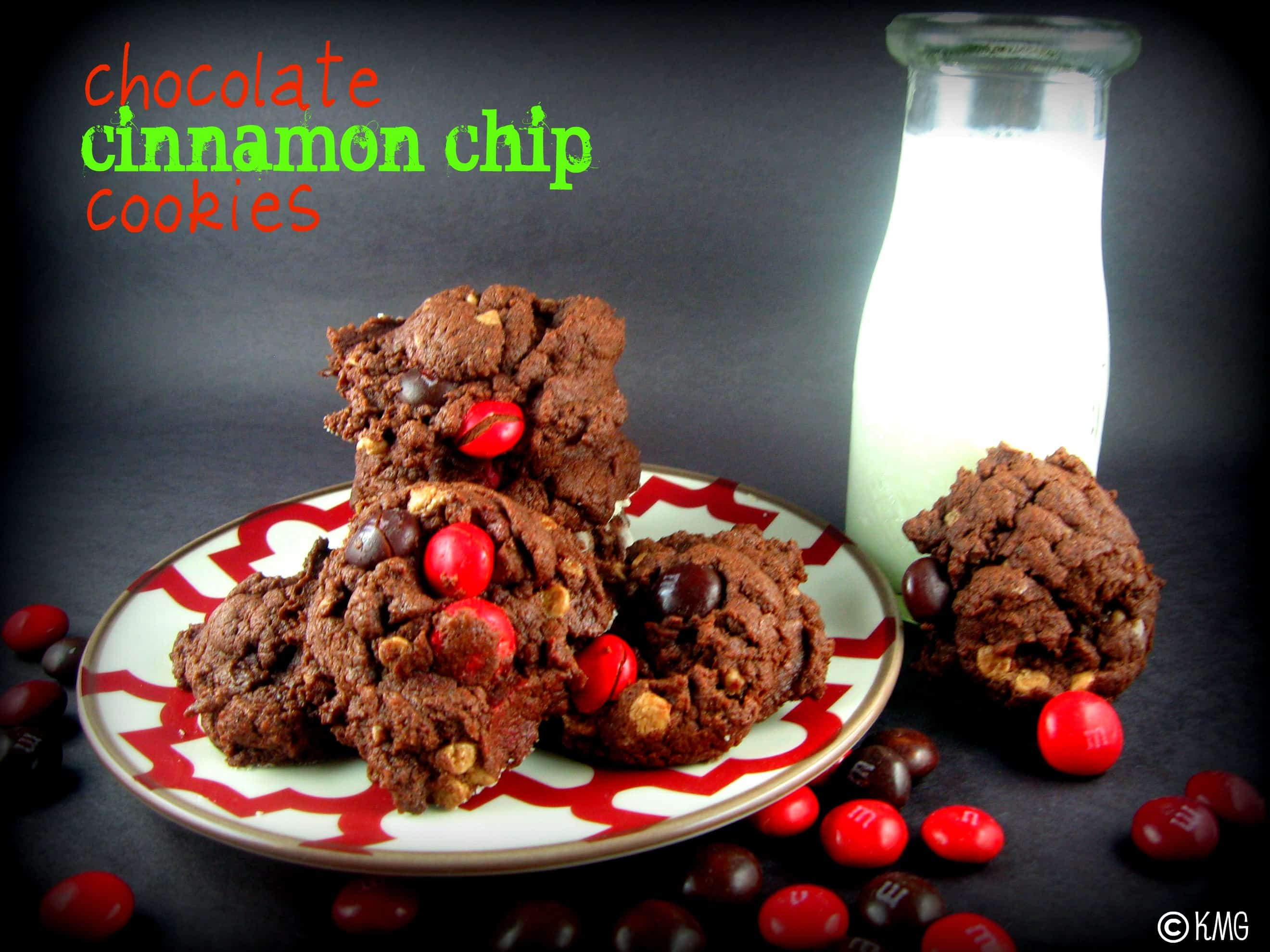 Chocolate Cinnamon Chip Cookies