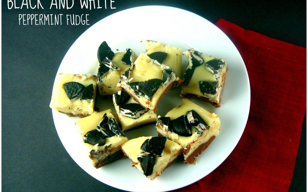 Black and White Peppermint Fudge