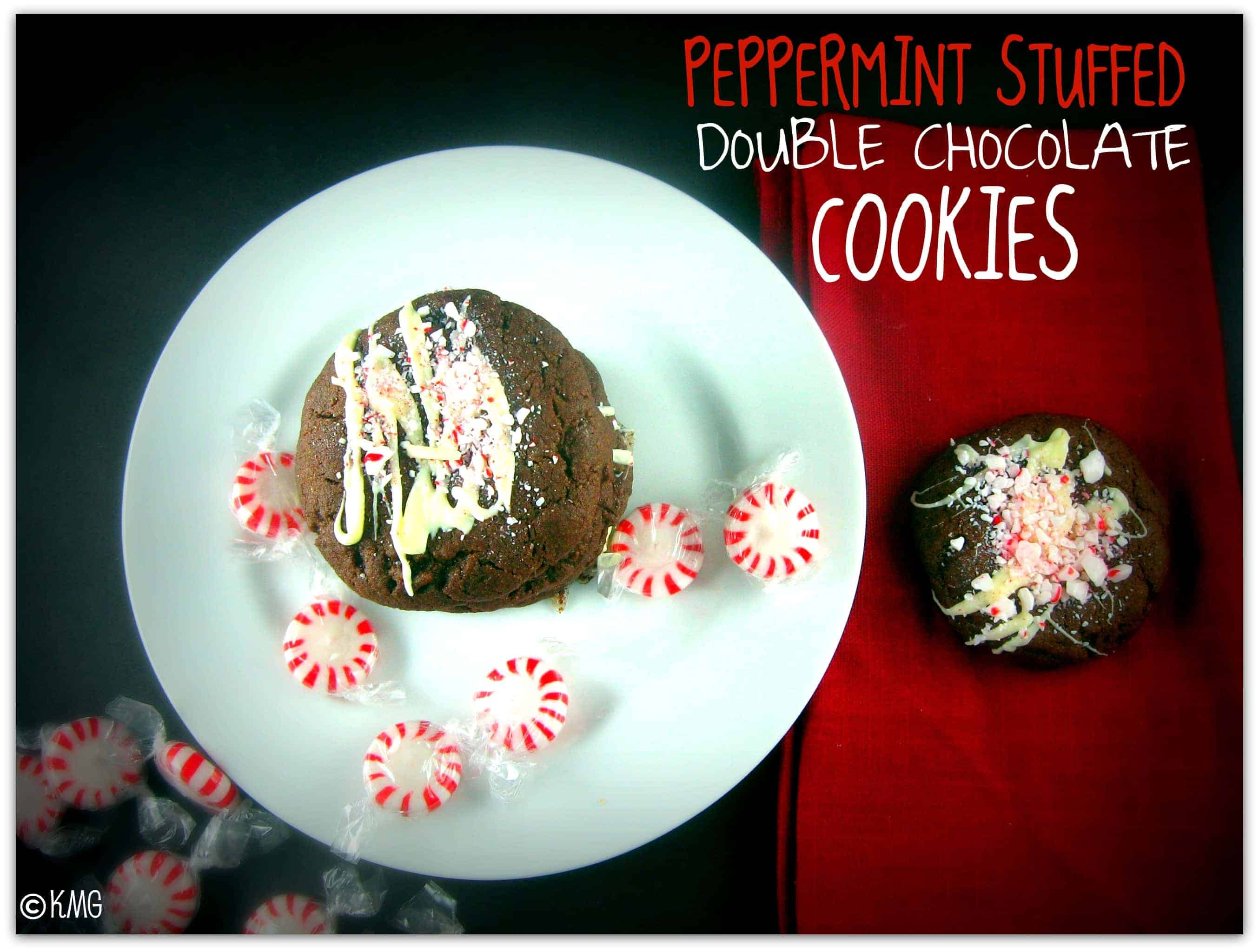 Peppermint-Stuffed Double Chocolate Cookies