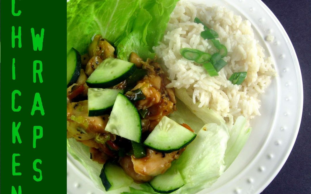 Thai-Glazed Chicken Lettuce Wraps