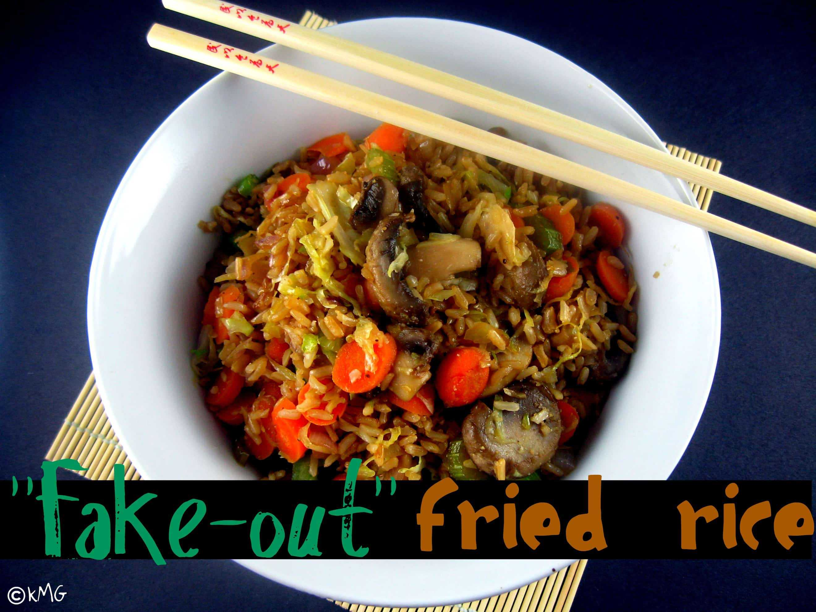 Fake-Out Fried Rice