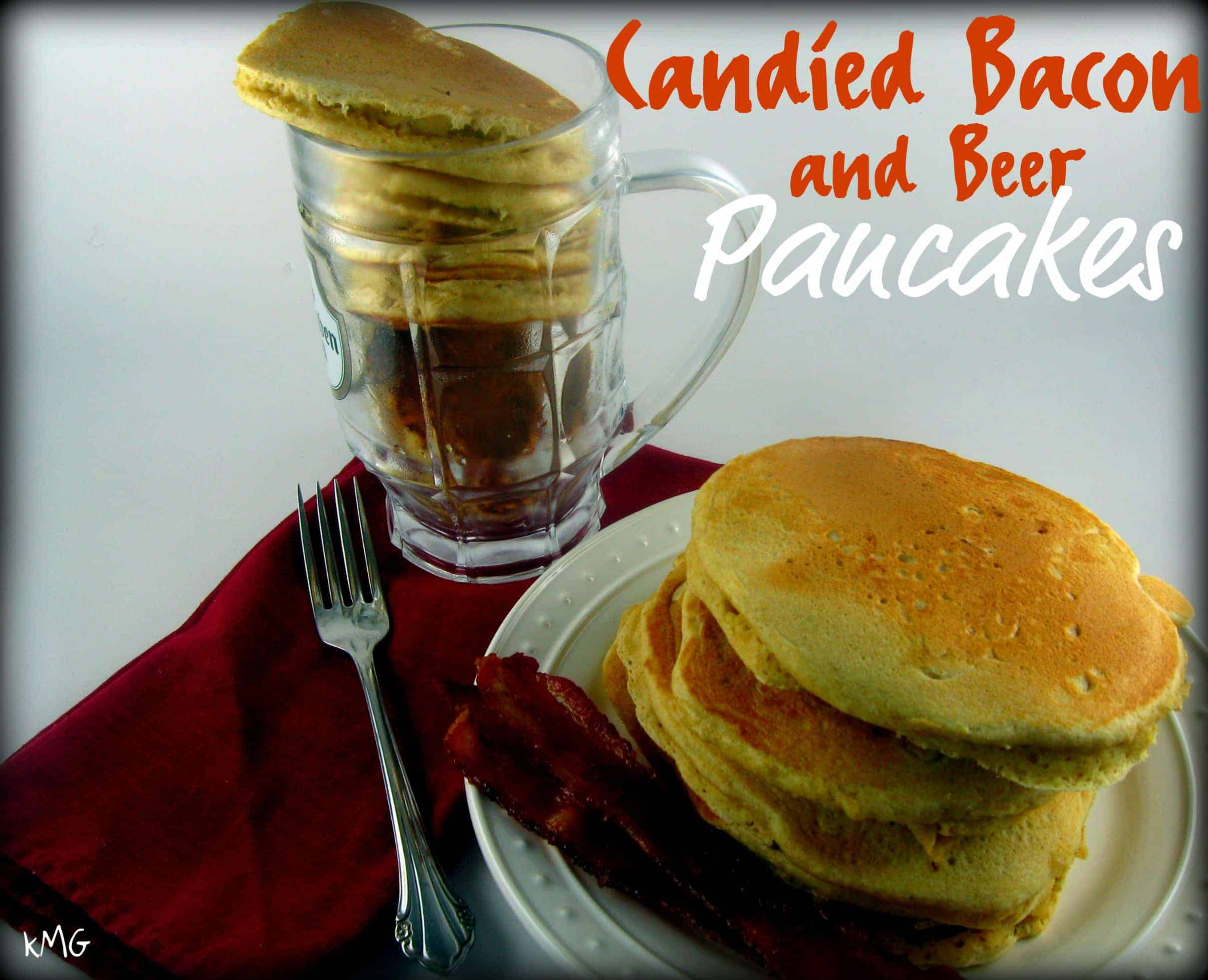 Candied Bacon and Beer Pancakes