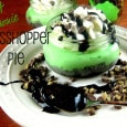 Mint Brownie Grasshopper Pie in a Jar