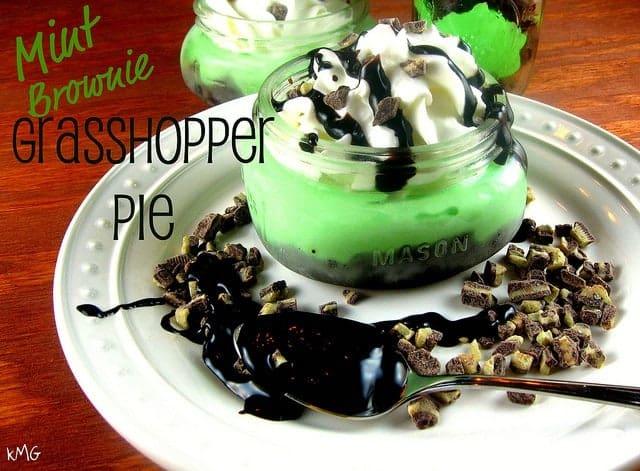 grasshopper pie in a jar