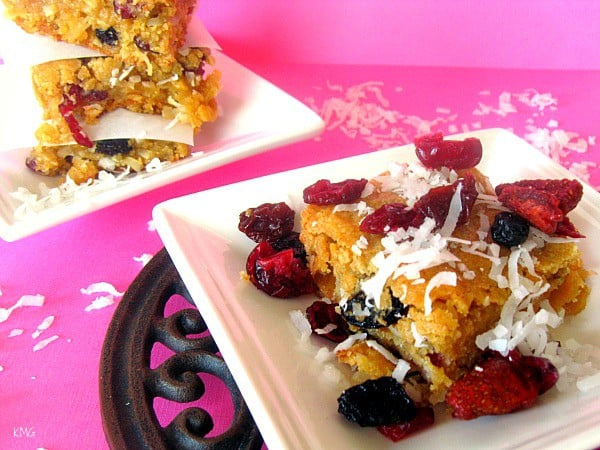 Cherry Coconut Blondies