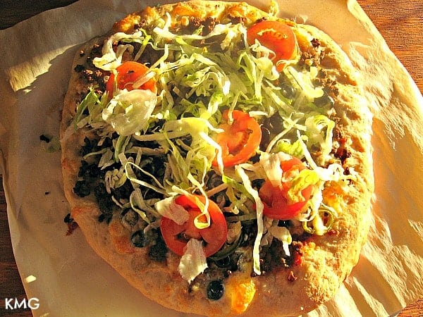 Make Your Own Thin Pizza Crust {plus, Taco Pizza!}