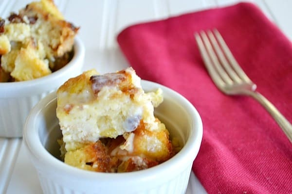 Pina Colada Bread Pudding {with Vanilla Rum Sauce}