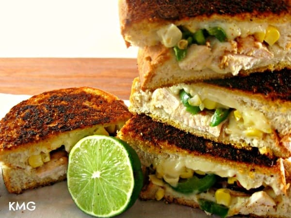 Ooey Gooey Mexican Grilled Cheese