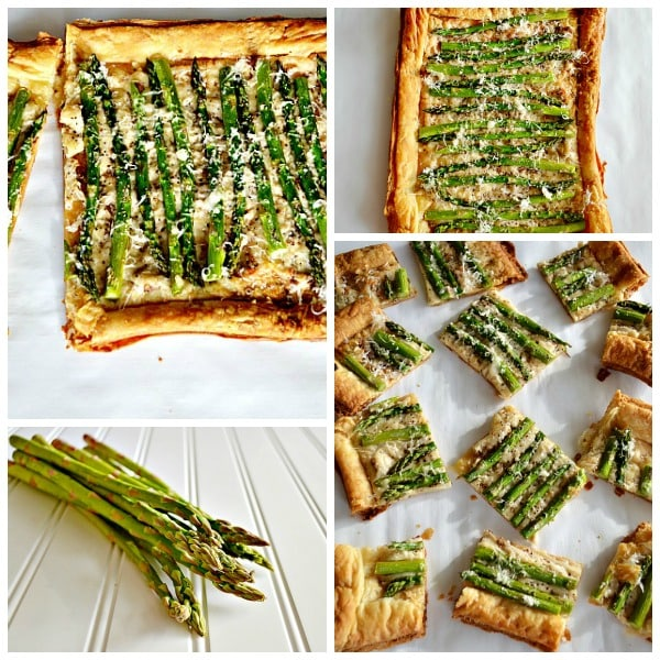 asparagus tart collage