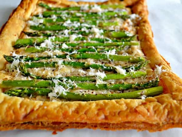 Asparagus and Asiago Tart