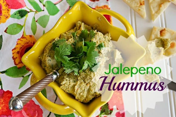 Jalepeno Hummus {with Cilantro and Lime}
