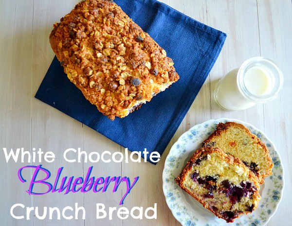 White Chocolate Blueberry Crunch Bread from Kitchen Meets Girl