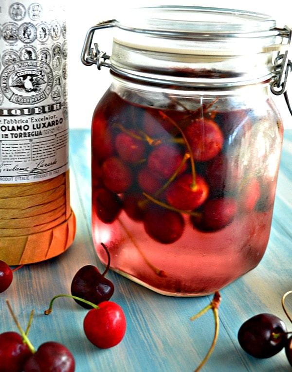 Yeah, I know, it's cherries soaked in maraschino liqueur. It may not ...