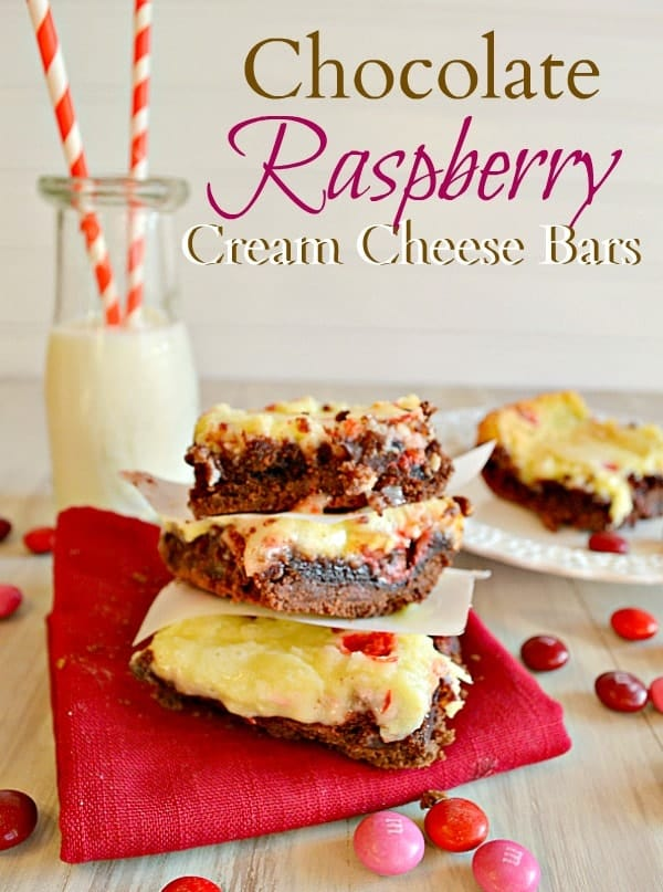 Chocolate Raspberry Cream Cheese Bars