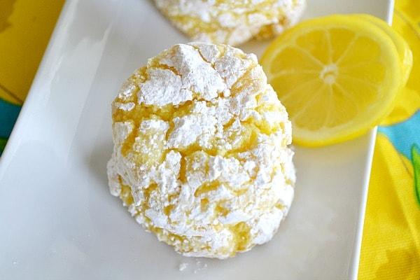 Lemon crinkles cookie recipe