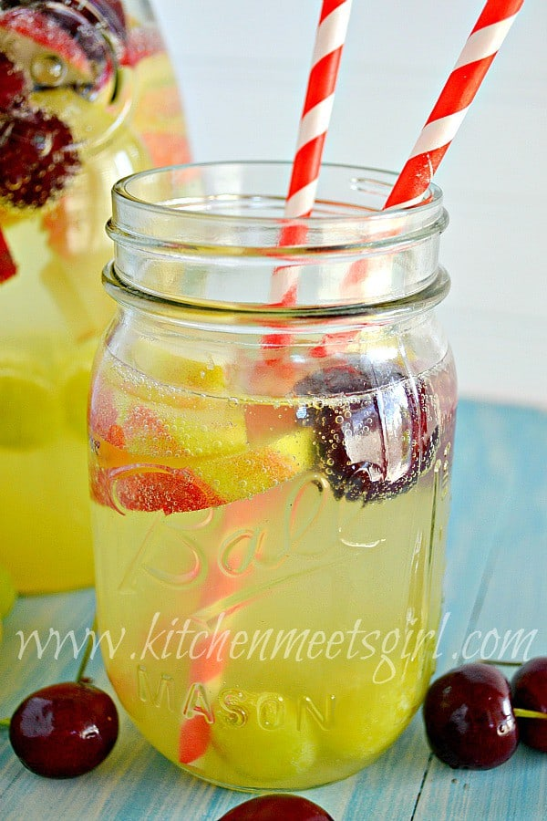 peach sangria from Kitchen Meets Girl