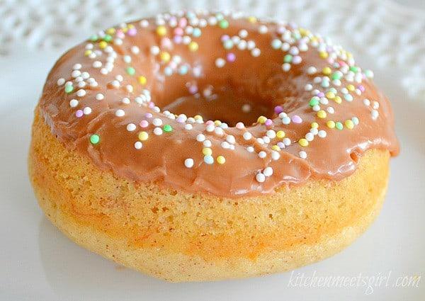 banana bread donuts with nutella glaze