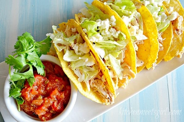 Two-Ingredient Chicken Tacos