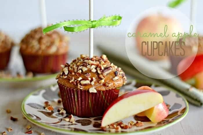 caramel apple cupcake-title