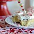 Peppermint Blondies with White Chocolate Peppermint Frosting