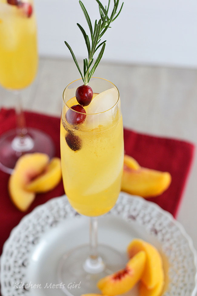Peach Bellini Party Punch - Kitchen Meets Girl