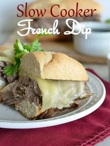 Slow Cooker French Dip from www.kitchenmeetsgirl.com #recipe #dinner