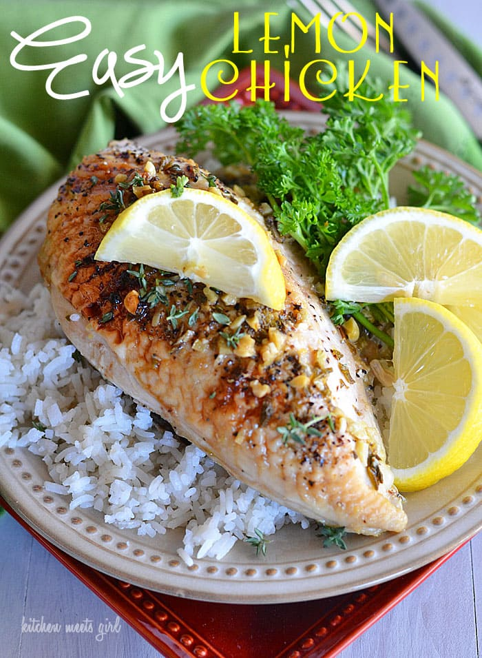 After you try this easy lemon chicken, it will have a permanent spot on your weeknight meal rotation! Quick, easy, and flavorful! #recipe #chicken