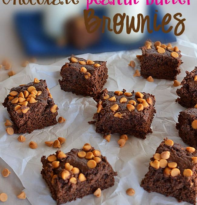 Lightened Up Chocolate Peanut Butter Brownies