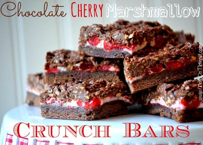 Chocolate-Cherry-Marshmallow-Crunch-Bars-Recipe