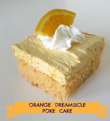 orange dreamsicle poke cake