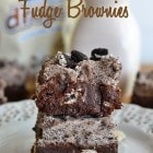 Cookies and Cream Fudge Brownies