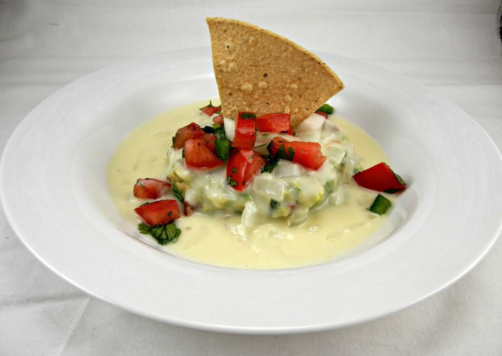 White Queso Guacamole Dip