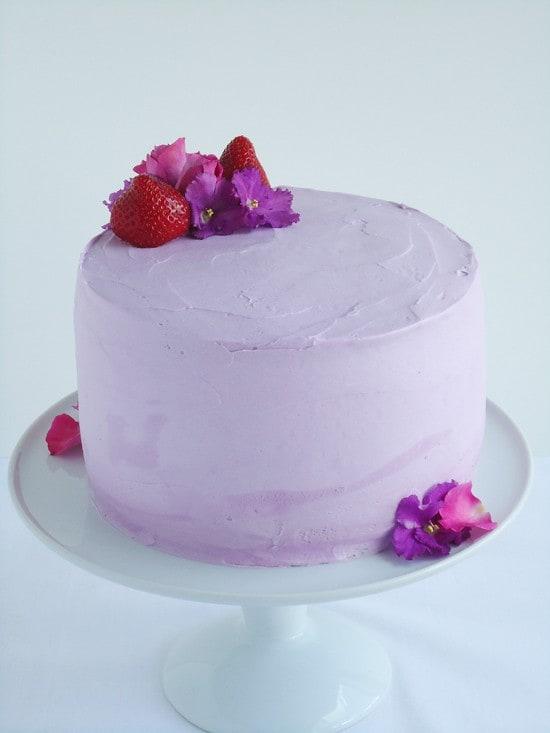 Lavender birthday cake