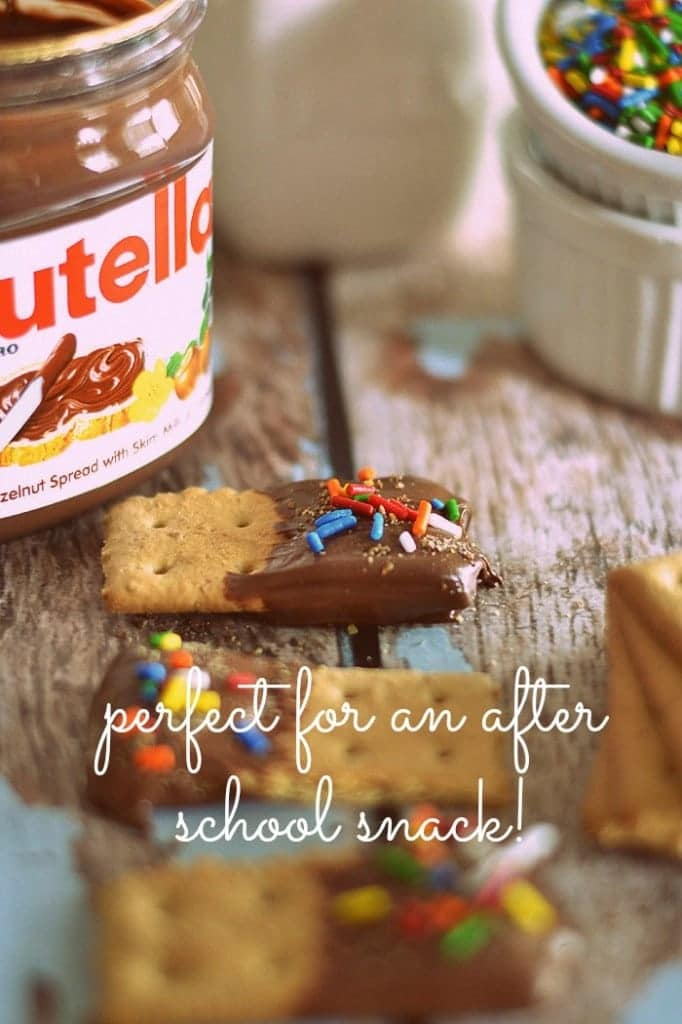 These Nutella Grahams come together in less than a minute and provide a dose of folate and Vitamin E thanks to the addition of wheat germ!