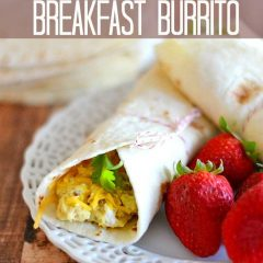 At $1.99 a serving, this one-minute breakfast burrito is healthier and faster than anything than you can grab at the drive-through window! #eggs #breakfast #recipe