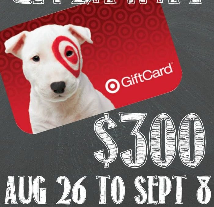 $300 Target Gift Card Giveaway!