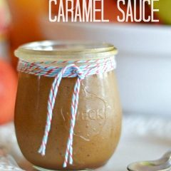 A super easy to make apple cider caramel sauce with vanilla bean flecks - heaven in a jar! Get the recipe at www.kitchenmeetsgirl.com #recipes #apple #caramel