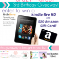 Kindle Fire HD Giveaway and Friday Wrap-Up