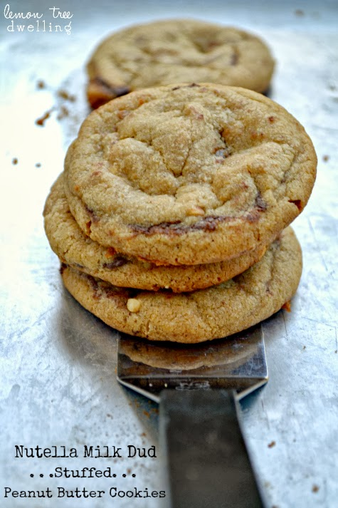 Nutella Milk Dud Stuffed Peanut Butter Cookies 1