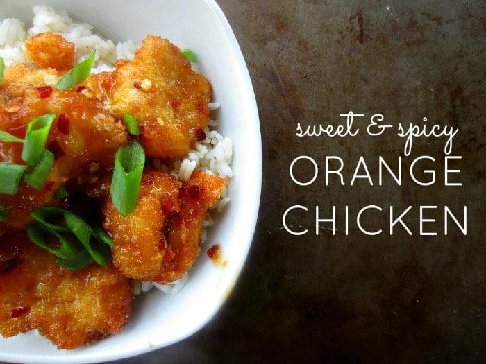 Sweet & Spicy Orange Chicken