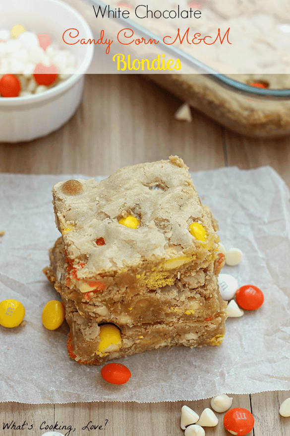 White Chocolate Candy Corn M&M Blondies8