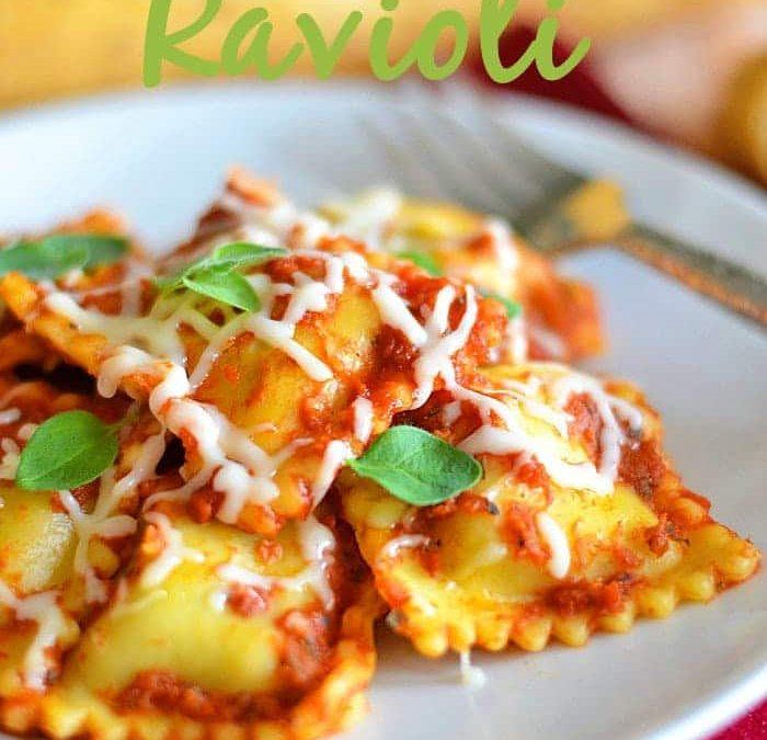 Slow Cooker Ravioli