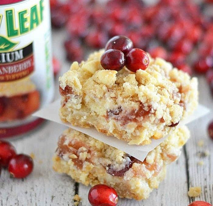 Apple Cranberry Cheesecake Bars