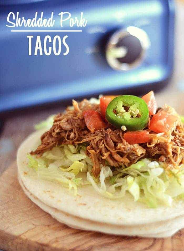 Make taco night a breeze with these Shredded Pork Tacos made with the Crock Pot Hook-Up Connectable Entertaining System.