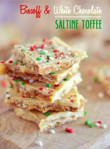 Did you know you can make toffee with Saltine crackers? Well, you can, and with a mix of brown sugar, Biscoff, and white chocolate, this easy sweet treat is absolutely phenomenal!