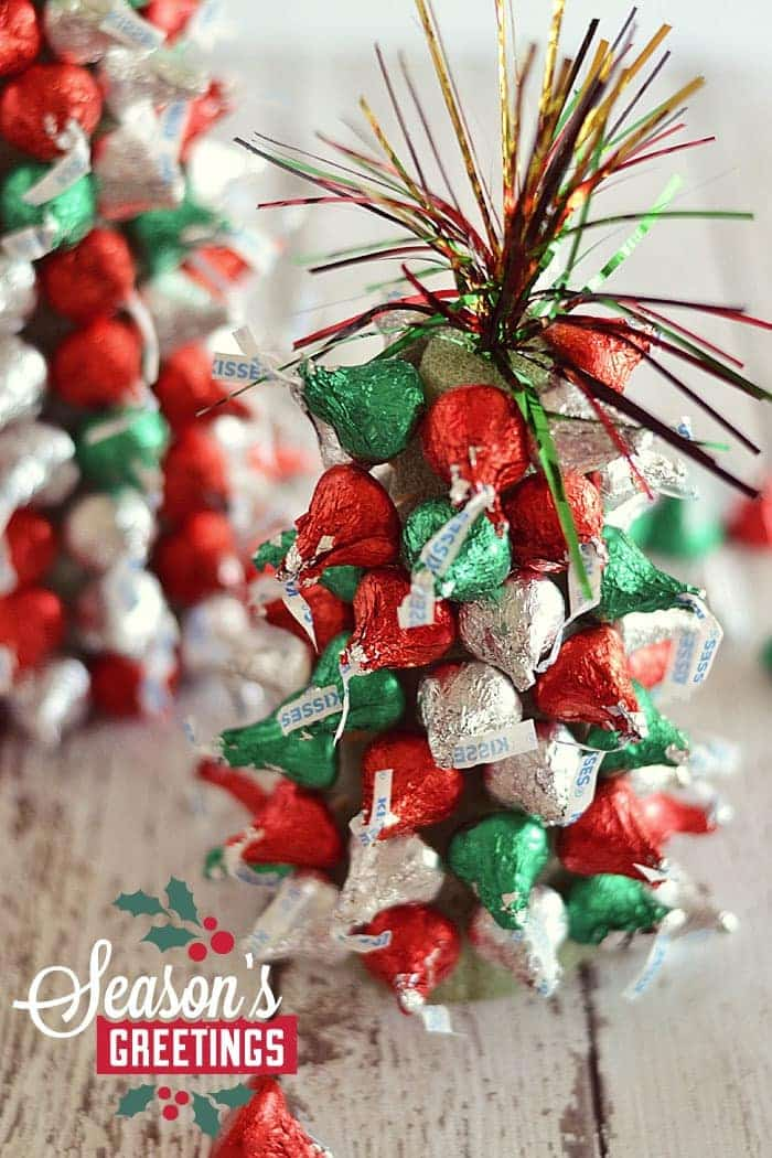Easy Christmas Decorations For Work : Quot kiss mas tree centerpieces kitchen meets girl