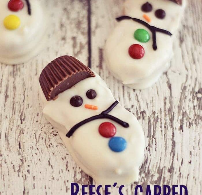 Reese's Capped Snowmen Cookies